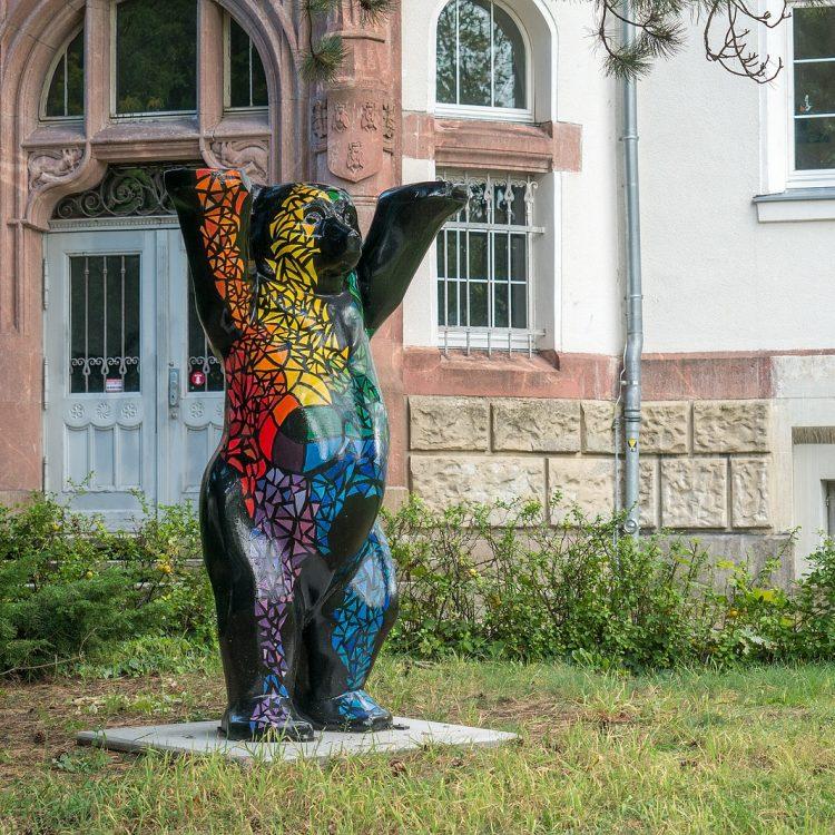 Buddy-Bär im piekfeinen Bezirk Grunewald