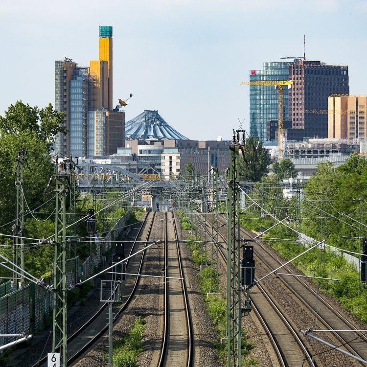 Bahntrasse zum Potsdamer Platz