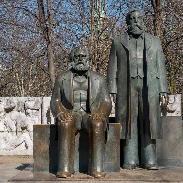 Karl Marx und Friedrich Engels von Ludwig Engelhardt (1986)