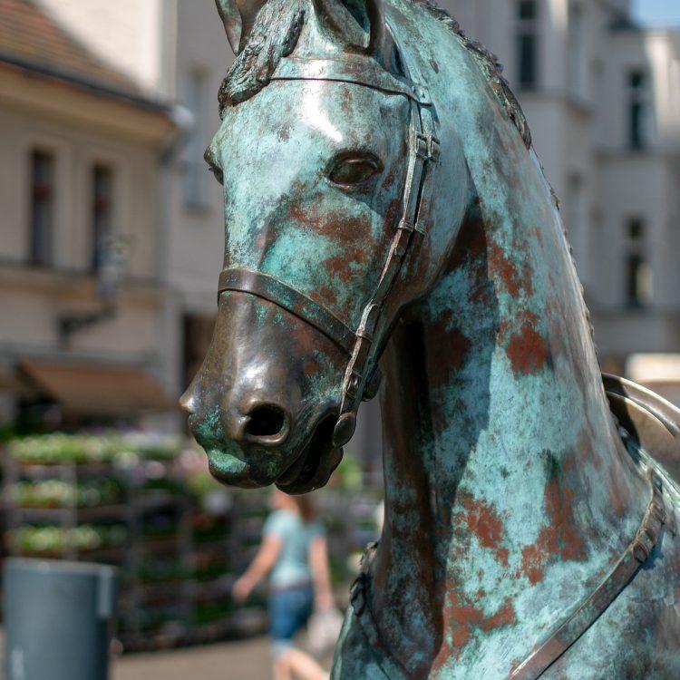 Wilde Pferde von der Künstlergruppe Inges Idee
