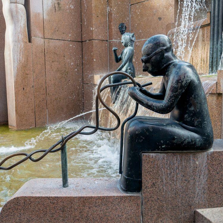 Der Wasserklops auf dem Breitscheidplatz