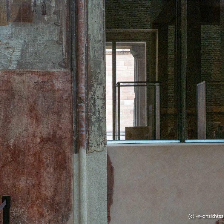 Neues Museum restauratiertes Wandstück