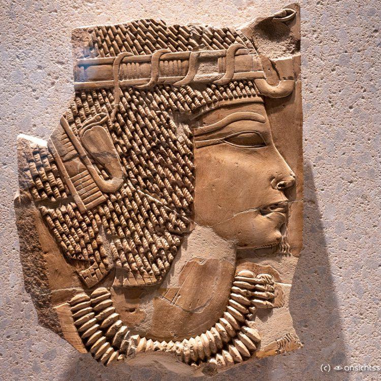Neues Museum, Grabrelief König Amenophis III (ca. 1360 v. unserer Zeitrechnung)
