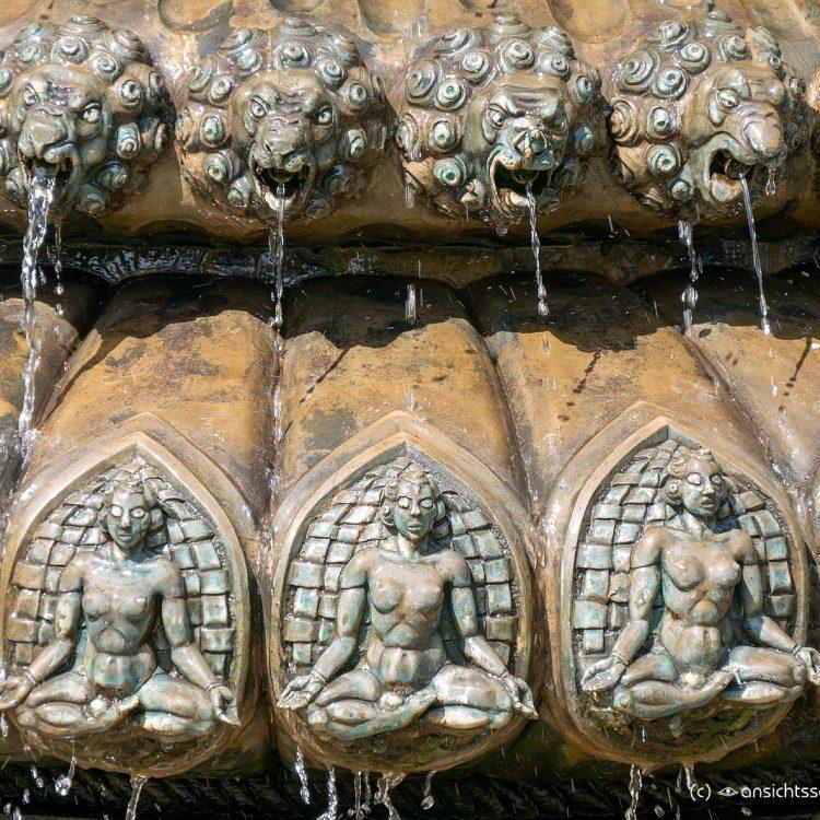Indischer Brunnen am Engelbecken von Erwin Barth