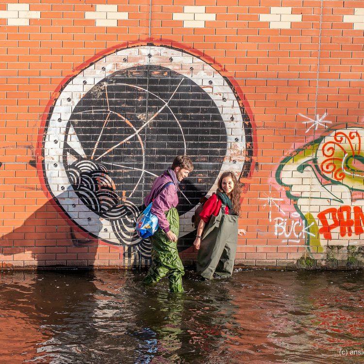 Graffitis an der Panke