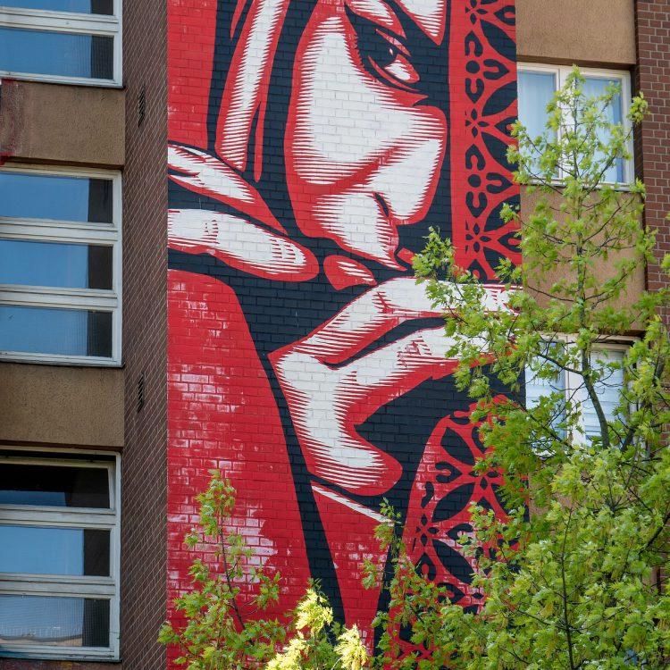 Der Blick, Mural in der Bülowstraße