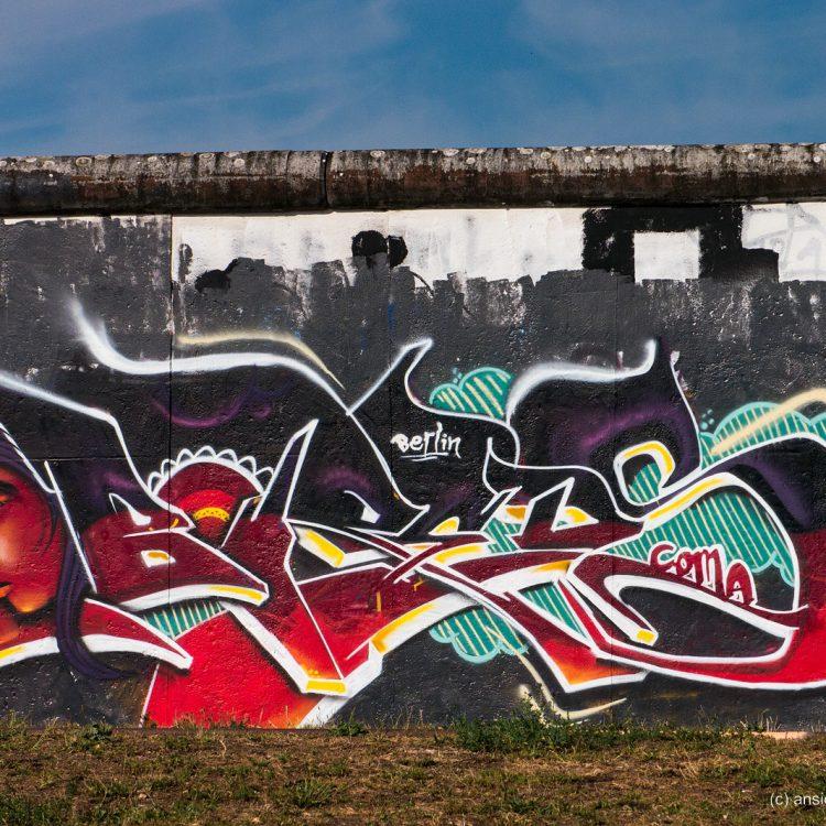 Murals auf der ehemaligen Berliner Mauer