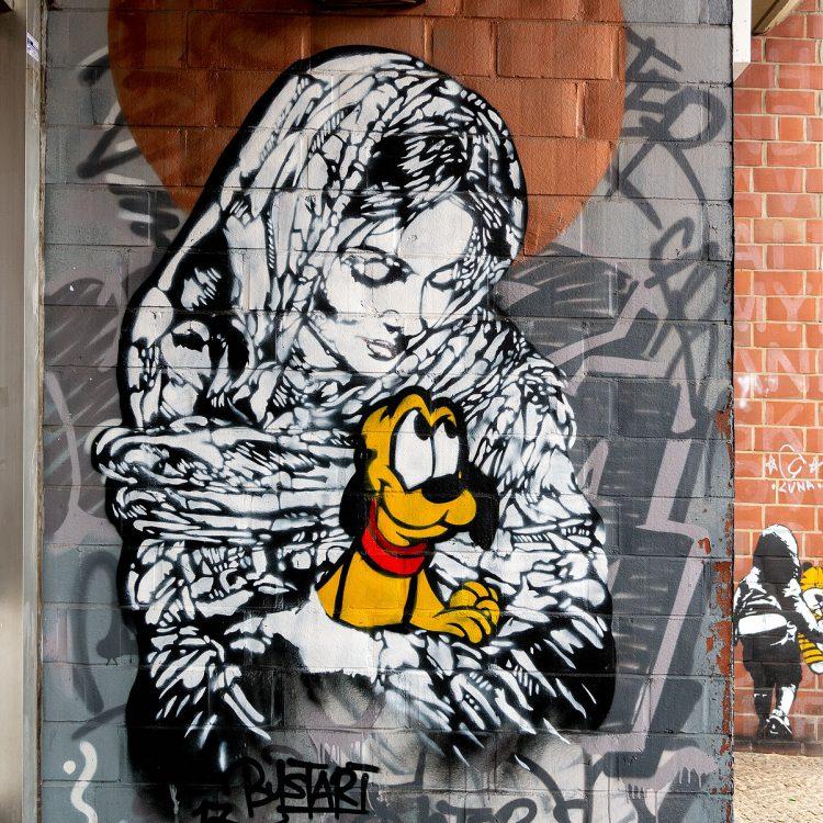 Mural von Bust in der Bülowstraße