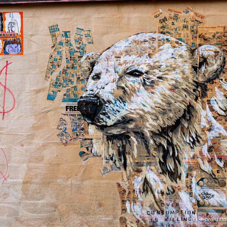 Polarbär, Mural in der Bülowstraße