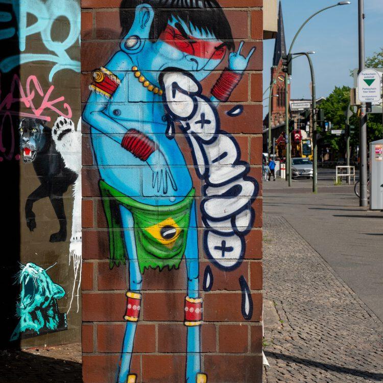 Mural von Cranio in der Bülowstraße